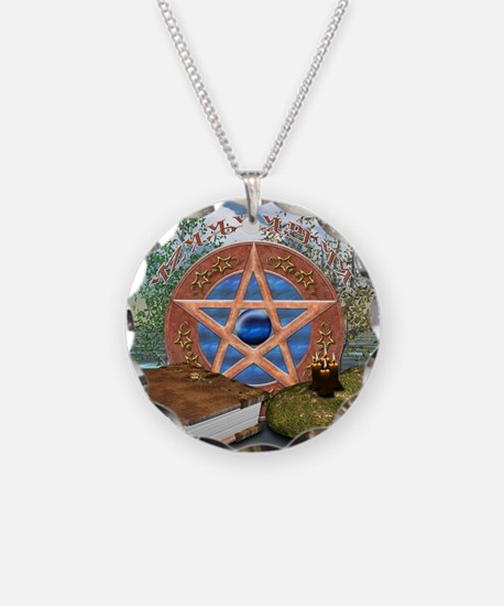 Blessed Be Necklace Circle Charm