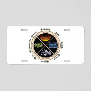Sabbat Yellow Aluminum License Plate