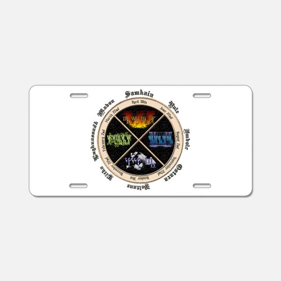 Sabbat Yellow Aluminum License Plate
