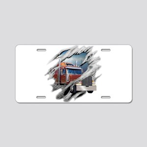 Torn Trucker Aluminum License Plate