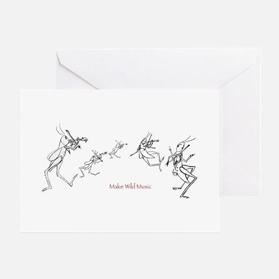 Grasshopper Fiddlers Greeting Card