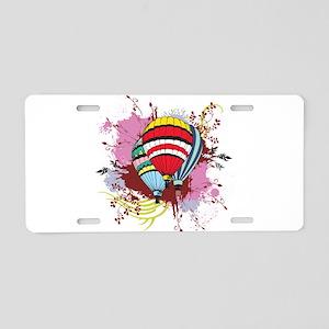 Ballooning Aluminum License Plate