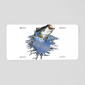 Bass Fishing Aluminum License Plate