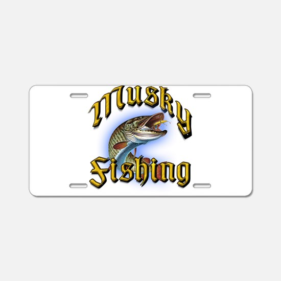 Musky Fishing 2 Aluminum License Plate