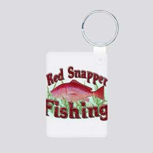 Red Snapper Fishing Aluminum Photo Keychain
