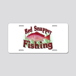 Red Snapper Fishing Aluminum License Plate