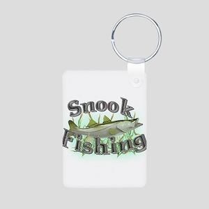 Snook Fishing Aluminum Photo Keychain
