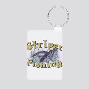 Striper Fishing Aluminum Photo Keychain