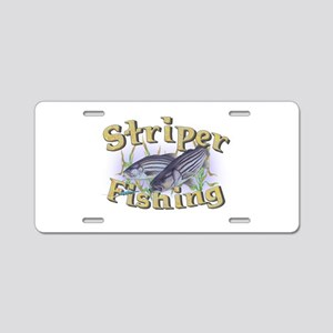 Striper Fishing Aluminum License Plate