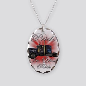 Pride In Ride 1 Necklace Oval Charm