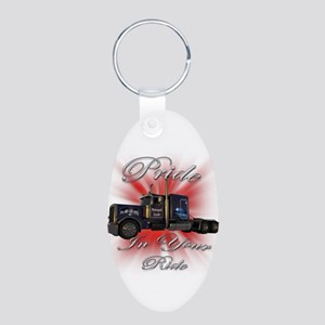Pride In Ride 1 Aluminum Oval Keychain
