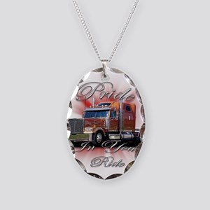 Pride In Ride 2 Necklace Oval Charm
