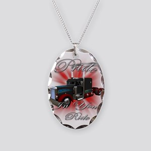 Pride In Ride 3 Necklace Oval Charm