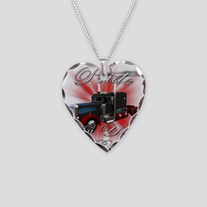 Pride In Ride 3 Necklace Heart Charm