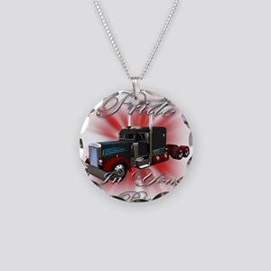Pride In Ride 3 Necklace Circle Charm