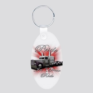 Pride In Ride 4 Aluminum Oval Keychain