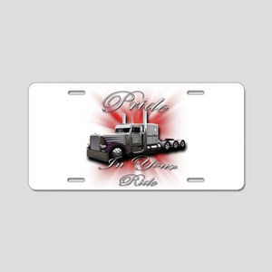 Pride In Ride 4 Aluminum License Plate