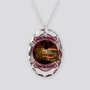 FireFighter Necklace Oval Charm