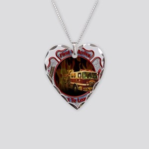 FireFighter Necklace Heart Charm