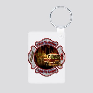 FireFighter Aluminum Photo Keychain