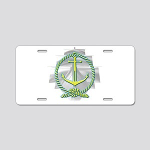 Ghost Ship Aluminum License Plate