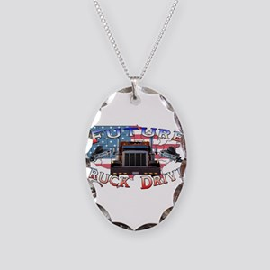 Future Driver Necklace Oval Charm