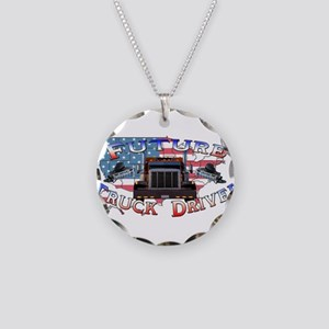 Future Driver Necklace Circle Charm