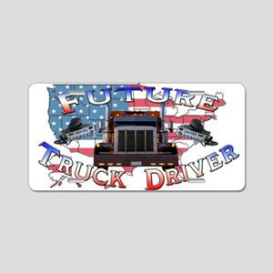 Future Driver Aluminum License Plate