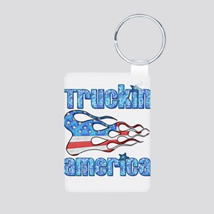 Truckin America Aluminum Photo Keychain