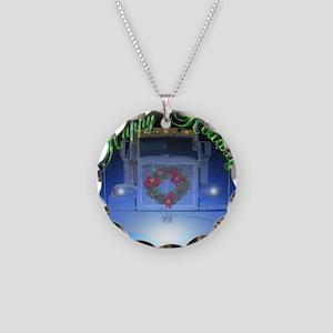 Trucker's Crystalball Necklace Circle Charm