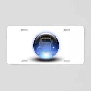 Trucker's Crystalball Aluminum License Plate