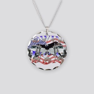 Towing USA Necklace Circle Charm