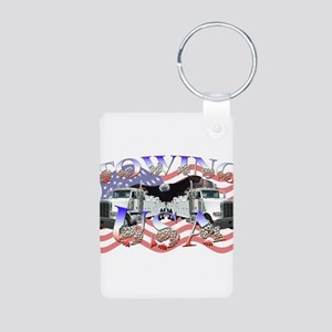 Towing USA Aluminum Photo Keychain