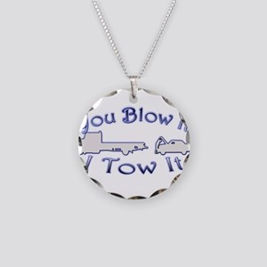 Blow-Tow Necklace Circle Charm