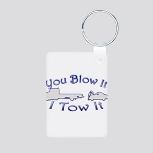 Blow-Tow Aluminum Photo Keychain