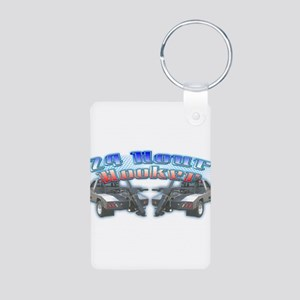 24 Hour Wrecker Aluminum Photo Keychain