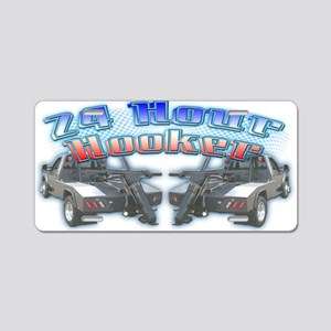 24 Hour Wrecker Aluminum License Plate
