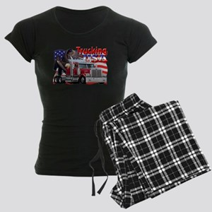 Trucking USA Women's Dark Pajamas
