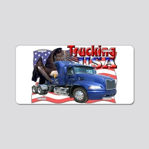Trucking USA Aluminum License Plate