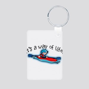Kayaking Aluminum Photo Keychain