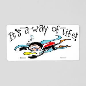 Scuba Diving Aluminum License Plate