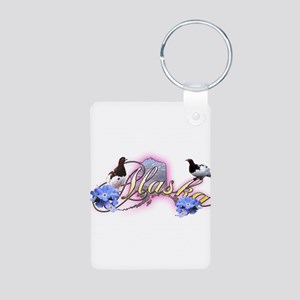 Alaska Aluminum Photo Keychain