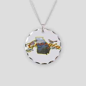 Georgia Necklace Circle Charm