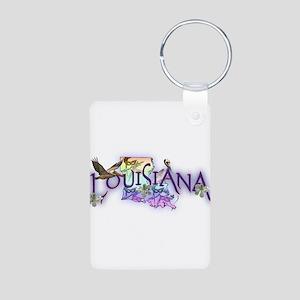Louisiana Aluminum Photo Keychain