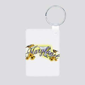 Maryland Aluminum Photo Keychain