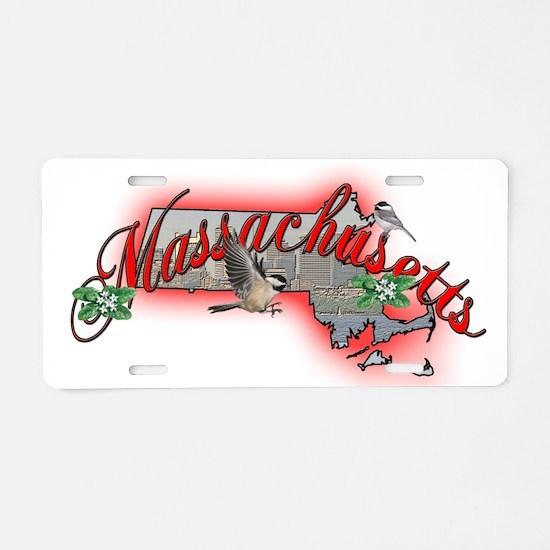 Massachusetts Aluminum License Plate