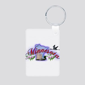 Minnesota Aluminum Photo Keychain
