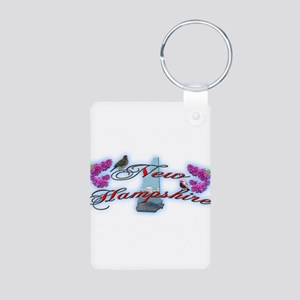 New Hampshire Aluminum Photo Keychain