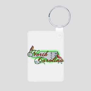 North Carolina Aluminum Photo Keychain