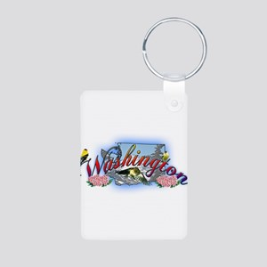 Washington Aluminum Photo Keychain
